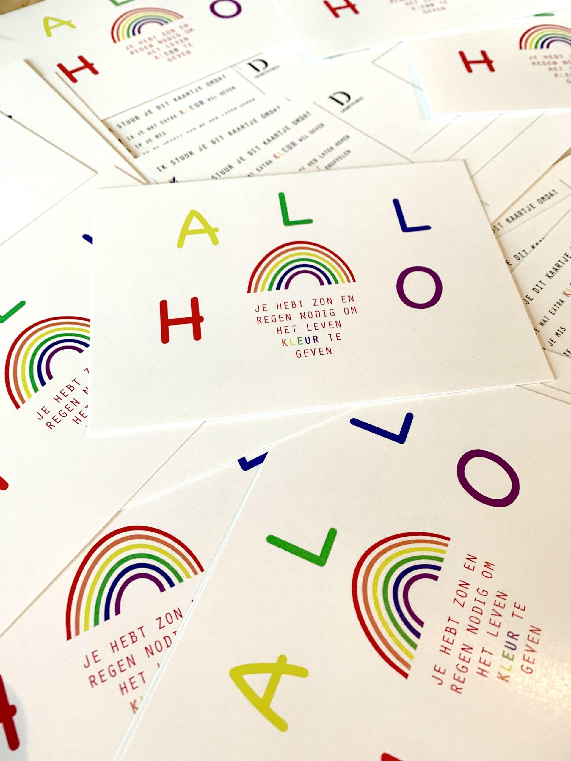 Koop deze regenboog kaartjes en zorg voor meer kleur