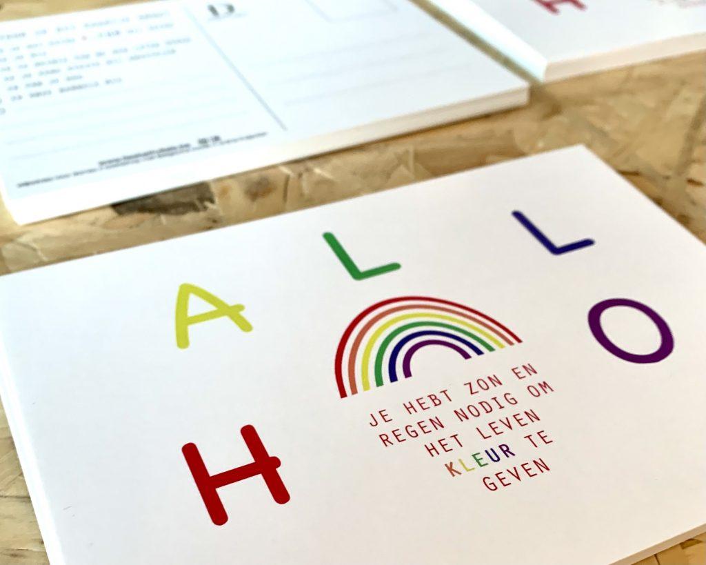 Regenboog kaartje